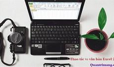 MS Excel 2003 - Bài 3: Thao tác dữ liệu trong bảng tính