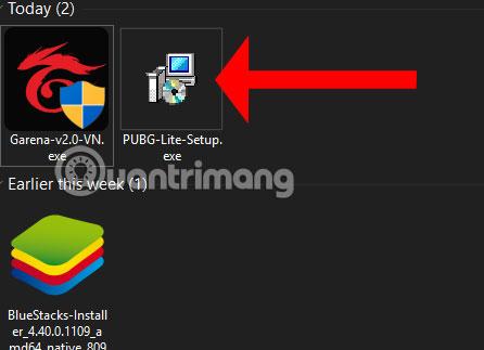 Khởi động file cài đặt PUBG LITE