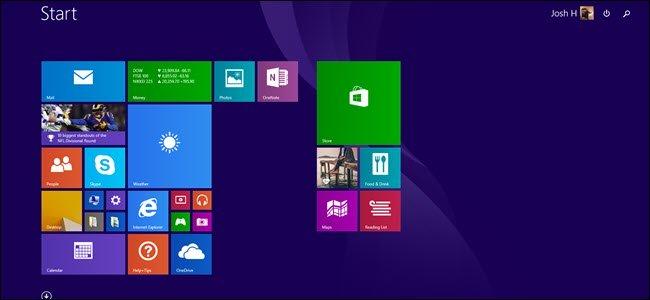 Windows 8.1 chỉ có Start Screen chứ không có một Start Menu thực sự