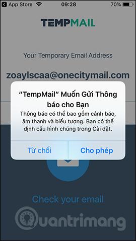 Cách tạo email ảo bằng Temp Mail trên điện thoại - Quantrimang com