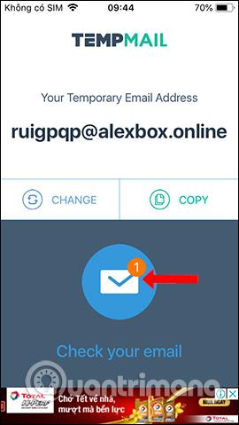 Thông báo email mới