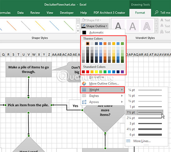 Cách vẽ lưu đồ trong Excel - Ảnh minh hoạ 17