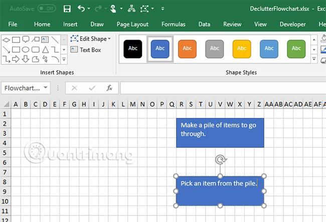 Cách vẽ lưu đồ trong Excel - Ảnh minh hoạ 8