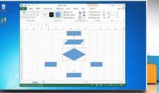 Cách vẽ lưu đồ trong Excel