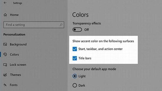 Start, taskbar, and action center