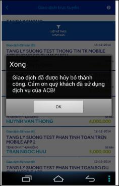 Cách dùng ACB Online gửi tiền, chuyển tiền
