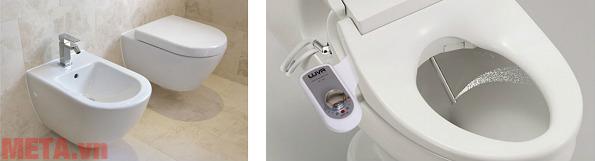 Ưu điểm của vòi rửa vệ sinh thông minh so với bồn rửa vệ sinh.