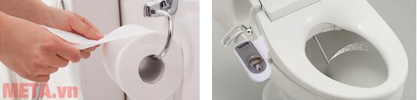 Ưu điểm của vòi rửa vệ sinh thông minh so với giấy vệ sinh.