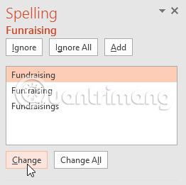 Cửa sổ Spelling