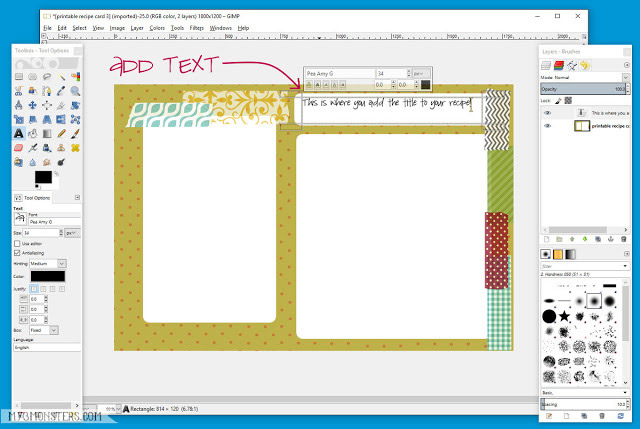 Nhấp vào vị trí muốn văn bản xuất hiện trong cửa sổ Image