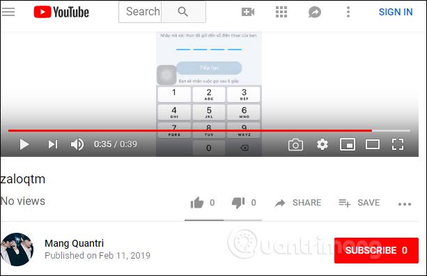 Video trên YouTube
