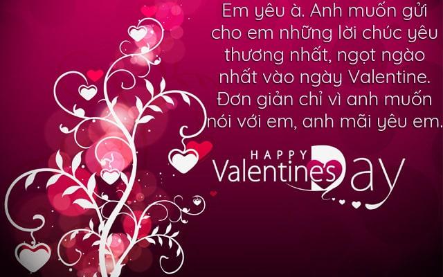 Ảnh lời chúc valentine 7