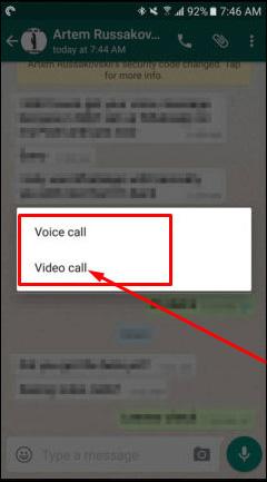 Gọi video trên WhatsApp
