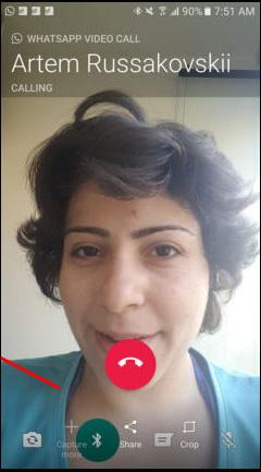 Giao diện trên WhatsApp