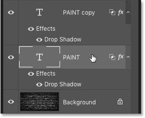 Nhấp vào layer Type