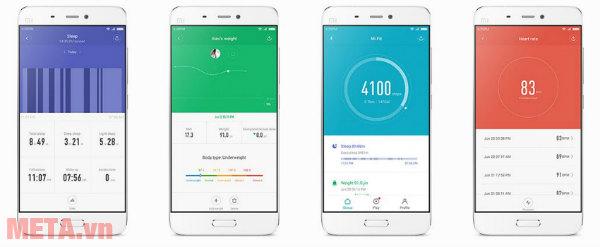 Ứng dụng Mi Fit hiện đại cho smartphone.