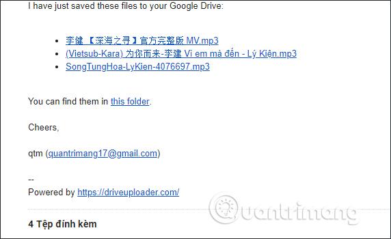 Thông báo email