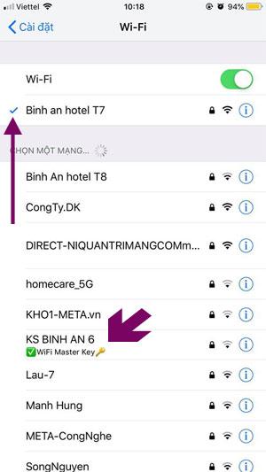 Danh sách wifi được chia sẻ bởi Wifi Master Key