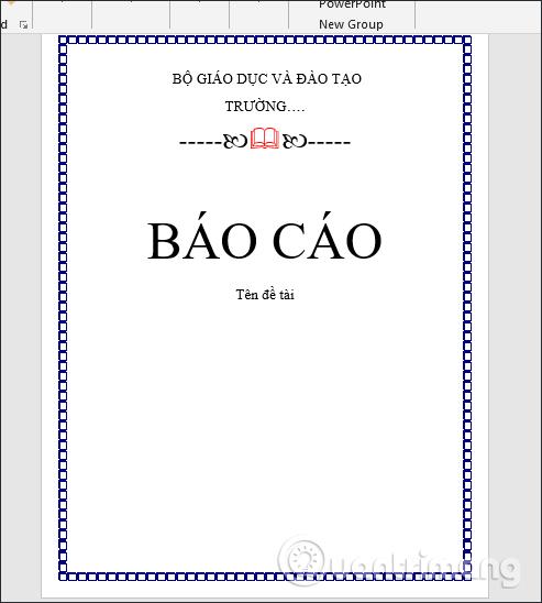 Trang bìa Word