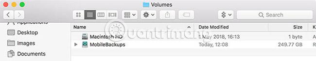 Kiểm tra /Volumes/