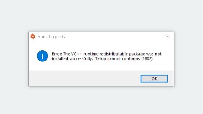 Lỗi VC++ Apex Legends