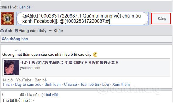 Cách viết chữ màu xanh, viết status, bình luận trên Facebook - Ảnh minh hoạ 4
