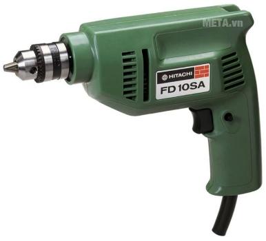 Máy khoan 235W Hitachi FD10SA có thể khoan gỗ, khoan sắt.