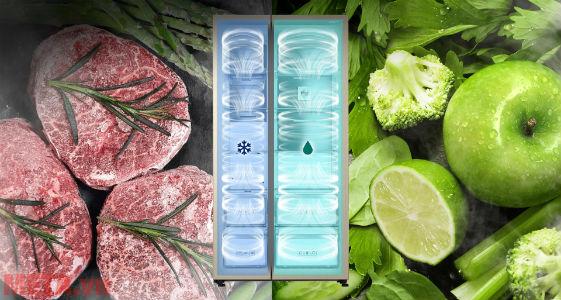 Tủ lạnh Samsung với 2 dàn lạnh độc lập (Twin Cooling Plus) hiện đại.