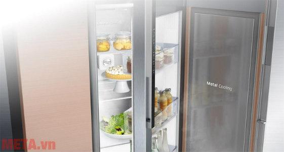 Tấm chắn giữ nhiệt Metal Cooling giảm thất thoát nhiệt cho tủ lạnh Samsung.
