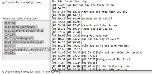 Sao chép file nhạc về Notepad