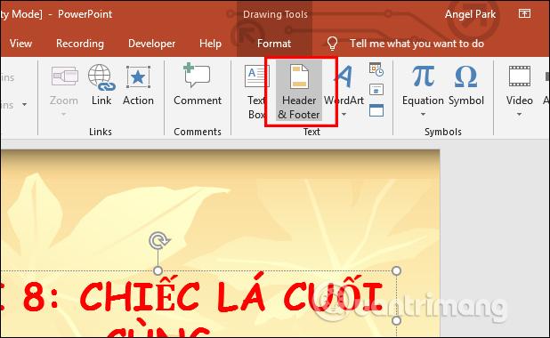 Hướng dẫn đánh số trang trên PowerPoint