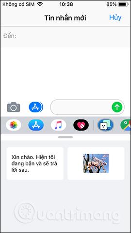 Chọn mẫu tin nhắn
