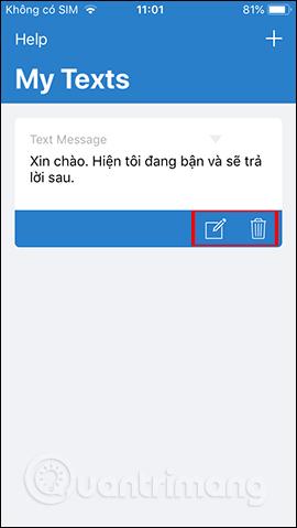 Hiện nội dung tin nhắn