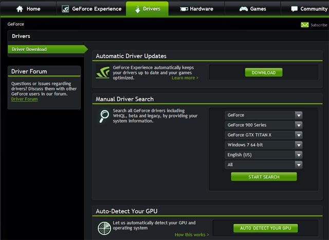Cập nhật trình điều khiển thẻ Nvidia