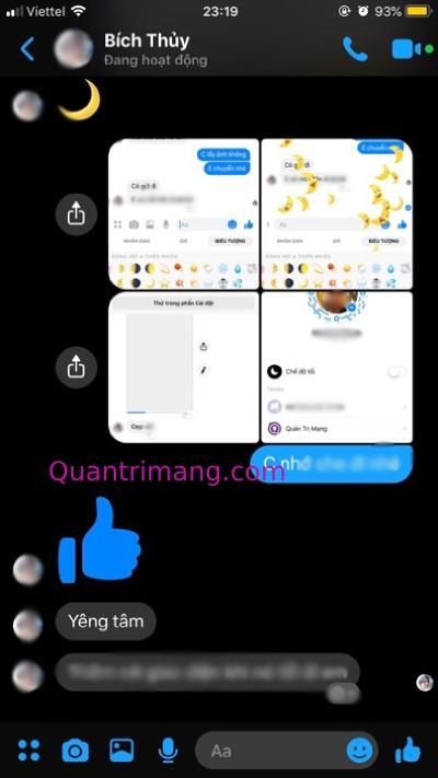 Messenger với chế độ Dark mode trên iPhone