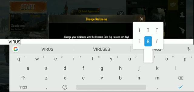 Nhập ký tự đăc biệt bằng bàn phím Android