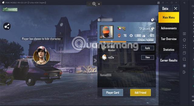 Đặt tên nhân vật trong PUBG Mobile PC