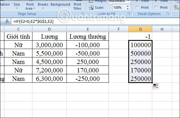 Cách chuyển số âm sang số dương Excel - Ảnh minh hoạ 9