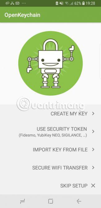 Khởi chạy OpenKeychain