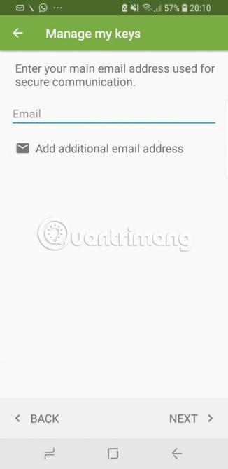 Xác nhận tên và địa chỉ email