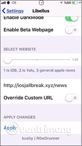 Edit web page display