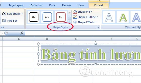 Cách chèn WordArt trong Excel - Ảnh minh hoạ 6