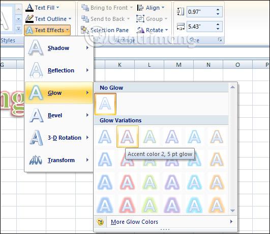 Cách chèn WordArt trong Excel - Ảnh minh hoạ 8