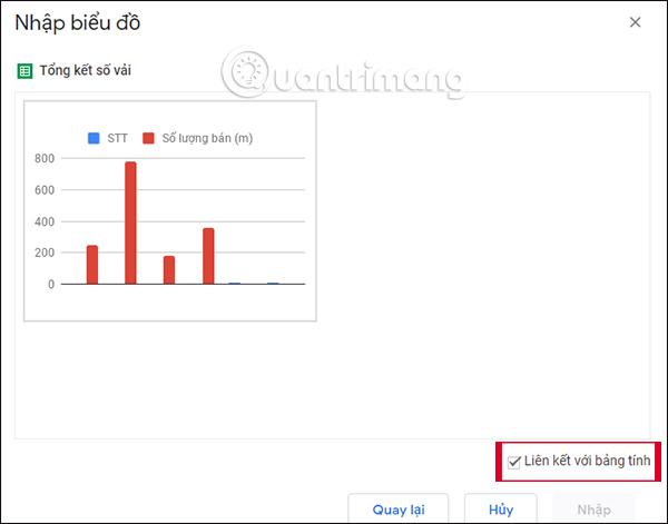Cách chèn biểu đồ Google Sheets vào Google Docs - Ảnh minh hoạ 4
