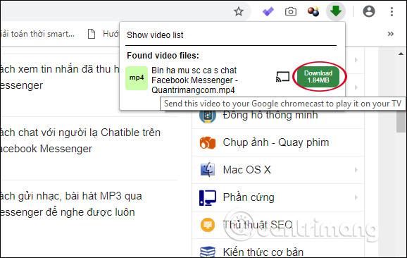 Tải video trên Video Downloader professional