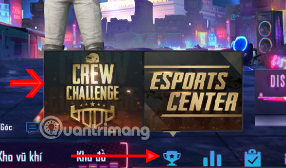 Bấm chọn Crew Challenge