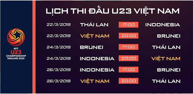 Lịch thi đấu U23 vô địch châu Á