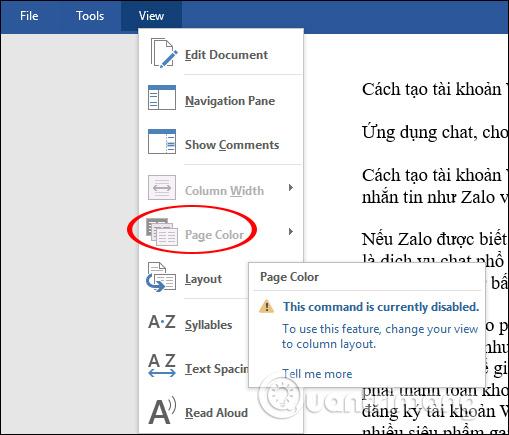Cách mở văn bản Word nền đen - Ảnh minh hoạ 3