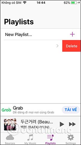 Xóa playlist