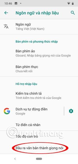 Ngôn ngữ nhập liệu Android